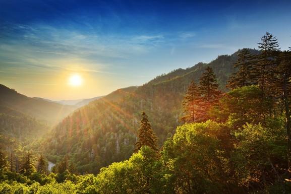 Great Smokey Mountains Sunset