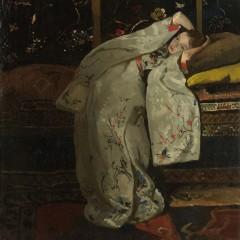 Meisje in Witte Kimono